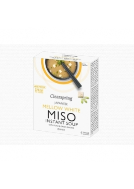 Supa Alba Miso Instant - Clearspring, 4 buc x 10 g