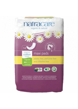 Absorbante bio Natracare maxi normal, 14 buc