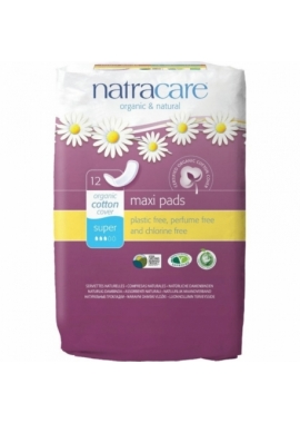 Absorbante bio Natracare maxi super, 12 buc