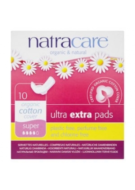 Absorbante bio Natracare ultra extra - super, 10 buc