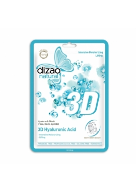 Masca cu acid hialuronic 3D, 28 g, Dizao Natural
