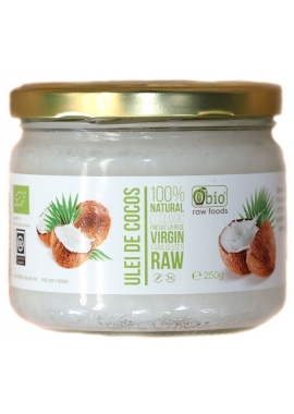 Ulei de cocos virgin raw bio 330 ml Obio