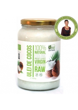 Ulei De Cocos Virgin Presat La Rece Raw Bio 1530 ml Obio